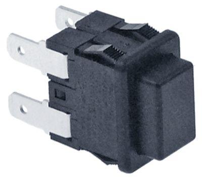 πληκτροδιακόπτης διαστ. τοποθέτ. 19x13mm ορθογώνιο μαύρο 2NO  250V 16A  -  -  -