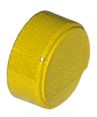 κουμπί πίεσης ø 23mm κίτρινο άξονας 3,7x3,7 mm