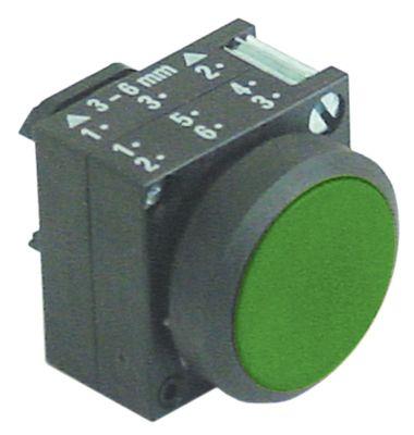 κουμπί πίεσης διαστ. τοποθέτ. ø22mm  χωρίς φωτισμό πράσινο