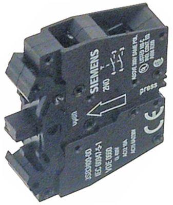 μπλοκ διακόπτη SIEMENS  3SB3400-0D  1NC/1NO  μέγ. 400V 10A μαύρο