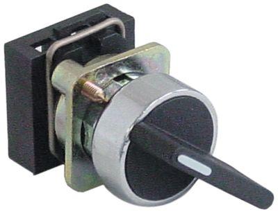 περιστροφικός επιλογέας διαστ. τοποθέτ. ø22mm  μαύρο στιγμιαίο ακολουθία 0-1