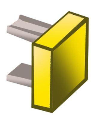 κουμπί πίεσης διαστάσεις 15x15 mm κίτρινο