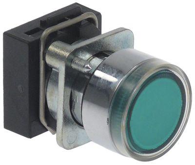 κουμπί πίεσης διαστ. τοποθέτ. ø22mm  πράσινο φωτιζόμενο