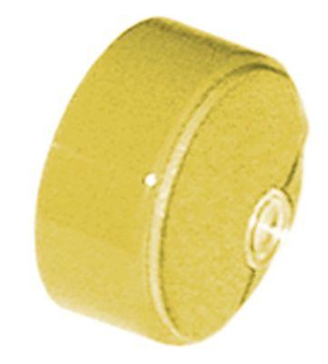 κουμπί πίεσης ø 23mm κίτρινο  - με φακό
