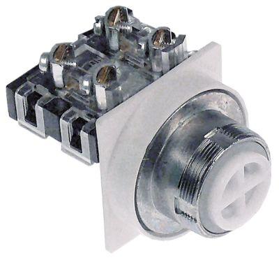 κουμπί πίεσης διαστ. τοποθέτ. ø30mm  χωρίς επιγραφή 2-πόλοι 1NO/1NC