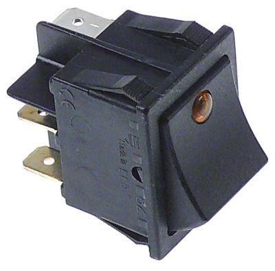 στιγμιαίος διακόπτης ορθογώνιο πορτοκαλί 1NO/ενδεικτική λυχνία 230V 16A
