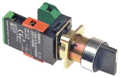περιστροφικός επιλογέας διαστ. τοποθέτ. ø22mm  μαύρο πλήρες 1 με μανδάλωση / 2 στιγμιαίος