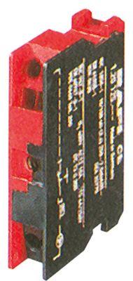 μπλοκ διακόπτη RAFI  5.00.100.139  1NC  μέγ. 400V 10A κόκκινο