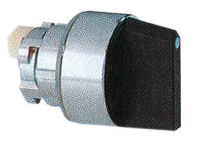 περιστροφικός επιλογέας διαστ. τοποθέτ. ø22mm  μαύρο μανδάλωση ακολουθία 0-1