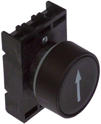κουμπί πίεσης διαστ. τοποθέτ. ø22mm  μαύρο βέλος