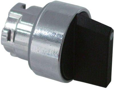 περιστροφικός επιλογέας διαστ. τοποθέτ. ø22mm  μαύρο στιγμιαίο ακολουθία 1-0-2