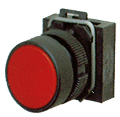 κουμπί πίεσης διαστ. τοποθέτ. ø22mm  κόκκινο