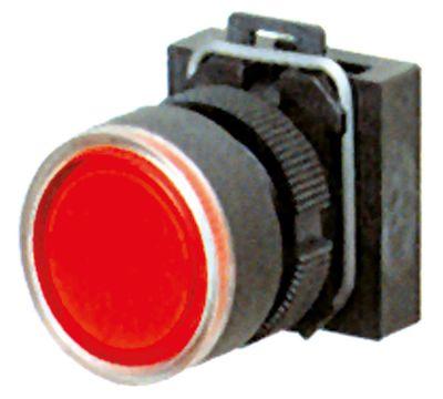 κουμπί πίεσης διαστ. τοποθέτ. ø22mm  κόκκινο φωτιζόμενο