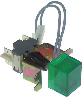 πληκτροδιακόπτης τετράγωνο πράσινο 2NO/ενδεικτική λυχνία 250V 16A  -  -