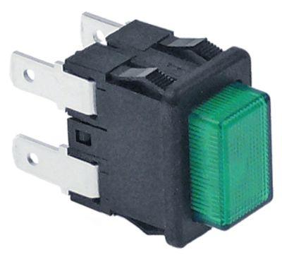 πληκτροδιακόπτης ορθογώνιο πράσινο 2NO  250V 16A σύνδεσμος αρσενικό εξάρτημα 4,8mm