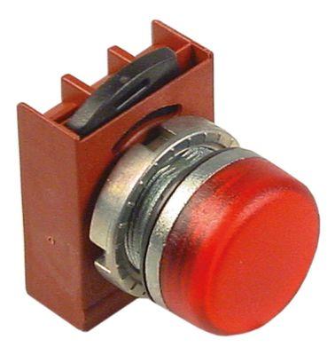 ενδεικτική λυχνία ø22mm  χωρίς στοιχείο υποδοχής κόκκινο