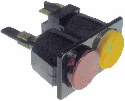 συνδυασμένοι διακόπτες διαστ. τοποθέτ. 28,5x52,6mm στρογγυλό κόκκινο/κίτρινο 2NO/ενδεικτική λυχνία