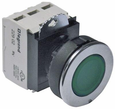 πληκτροδιακόπτης διαστ. τοποθέτ. ø30mm  στρογγυλό πράσινο 2NO/ενδεικτική λυχνία 230V 10A  -  -