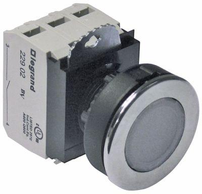 πληκτροδιακόπτης διαστ. τοποθέτ. ø30mm  στρογγυλό διαφανές 2NO  230V 10A  -  - σύνδεσμος βίδα