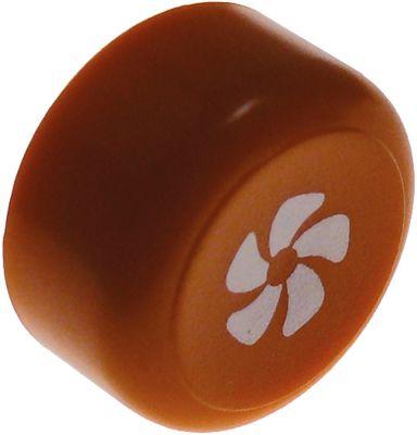 κουμπί πίεσης ø 23mm πορτοκαλί κύκλος