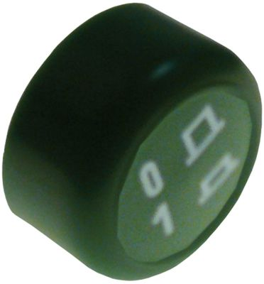 κουμπί πίεσης ø 23mm πράσινο εντός-εκτός λειτουργίας
