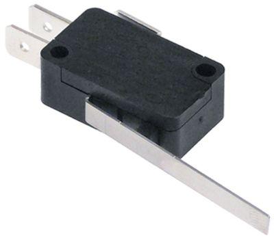 μικροδιακόπτης με μοχλό λειτουργία με μοχλό 250V 16A 1NO  σύνδεσμος αρσενικό εξάρτημα 6,3mm Μ 59mm
