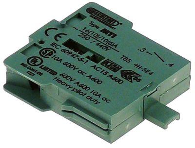 μπλοκ διακόπτη πράσινο 1NO  σύνδεσμος βίδα 250V 16A