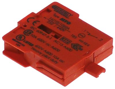 μπλοκ διακόπτη κόκκινο 1NC  σύνδεσμος βίδα 250V 16A