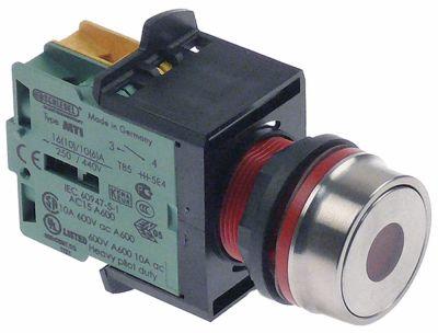 στιγμιαίος διακόπτης start διαστ. τοποθέτ. ø22mm  κόκκινο  - 1NO/ενδεικτική λυχνία ακολουθία 0-1   -