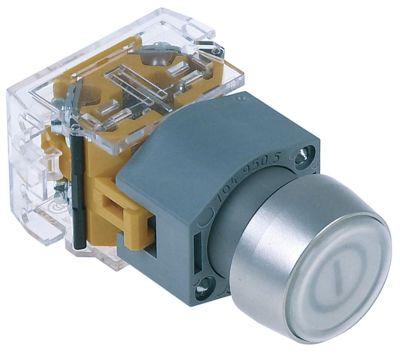 πληκτροδιακόπτης ø22mm  2NO  230V κύριος διακόπτης διαφανές σύνδεσμος βίδα 6A προστασία IP40