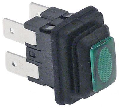 πληκτροδιακόπτης ορθογώνιο πράσινο 2NO  250V 16A σύνδεσμος αρσενικό εξάρτημα 6,3mm