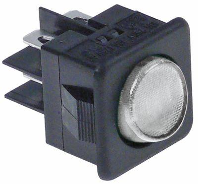 διακόπτης διαστ. τοποθέτ. στρογγυλό διαφανές 2CO  250V 16A  -  - σύνδεσμος αρσενικό εξάρτημα 6,3mm