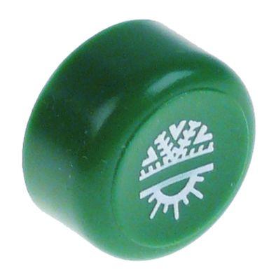 κουμπί πίεσης ø 23mm πράσινο ξέβγαλμα με χλιαρό/κρύο νερό
