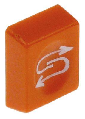 κουμπί πίεσης Μ 19,5mm W 25mm αναγέννηση πορτοκαλί