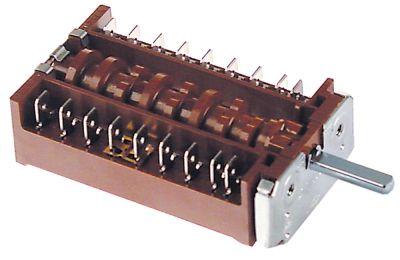 διακόπτης λειτουργίας 3 θέσεις λειτουργίας 8NO  ακολουθία 0-1-2  16A ø άξονα 6x4,6 mm Μ άξονα 23mm