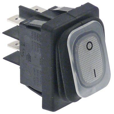 διακόπτης ορθογώνιο λευκό 2NO  250V 20A 0-I  σύνδεσμος αρσενικό εξάρτημα 6,3mm