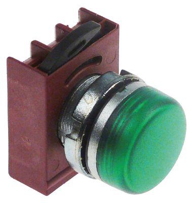 ενδεικτική λυχνία διαστ. τοποθέτ. ø22mm  χωρίς στοιχείο υποδοχής πράσινο