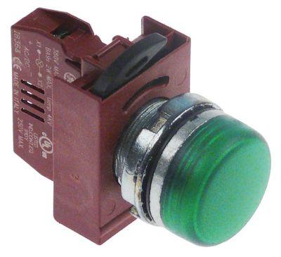 ενδεικτική λυχνία διαστ. τοποθέτ. ø22mm  με στοιχείο υποδοχής πράσινο