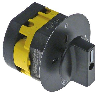 περιστροφικός διακόπτη 2 0-1  690V 16A σετ επαφών 2 ø άξονα 6x6 mm Μ άξονα 20mm