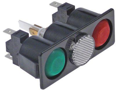 συνδυασμένοι διακόπτες διαστ. τοποθέτ. 77x28mm στιγμιαίο στρογγυλό πράσινο/λευκό/κόκκινο