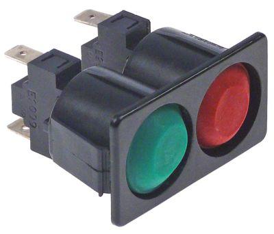 συνδυασμένοι διακόπτες 51x28  στιγμιαίο στρογγυλό κόκκινο/πράσινο 250V 16A