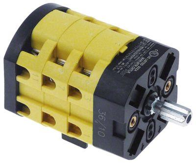 περιστροφικός διακόπτη 3 0-1  690V 20A σετ επαφών 6 ø άξονα 8x7 mm Μ άξονα 19mm