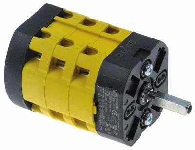 περιστροφικός διακόπτη 3 0-1-2  690V 20A σετ επαφών 6 ø άξονα 5x5 mm Μ άξονα 23mm