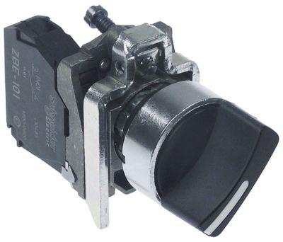 περιστροφικός επιλογέας διαστ. τοποθέτ. ø22mm  1NO  θέσ. λειτ. 0-1 με μανδάλωση