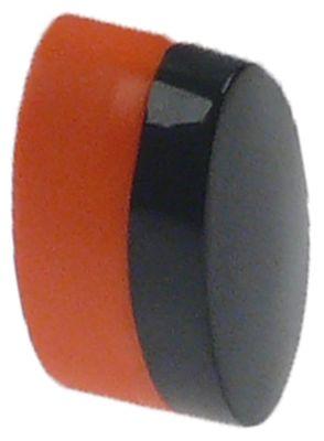 κουμπί πίεσης εξωτερικό μέγεθος 11x21 mm μαύρο/πορτοκαλί