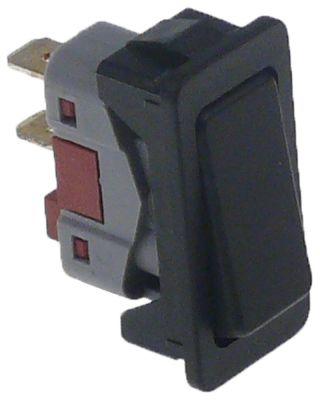 στιγμιαίος διακόπτης με πλαίσιο μαύρο 1NO  250V 6A σύνδεσμος αρσενικό εξάρτημα 6,3mm