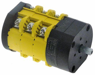 περιστροφικός διακόπτη θέσ. λειτ. 3 0-1-2  690V 25A σετ επαφών 6 ø άξονα 6x6 mm Μ άξονα 15mm