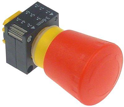 διακόπτης έκτακτης ανάγκης διαστ. τοποθέτ. ø22mm  κόκκινο σειρά 3SB