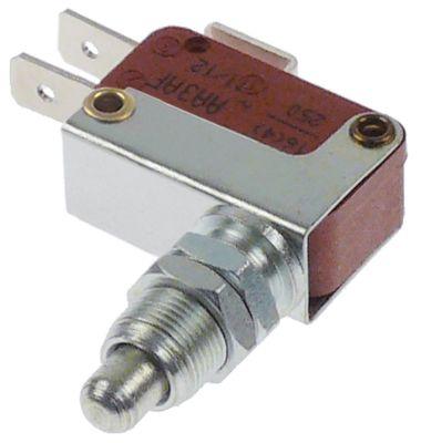 μικροδιακόπτης με έμβολο λειτουργία με πείρο 250V 16A 1CO  σπείρωμα M10x0,75