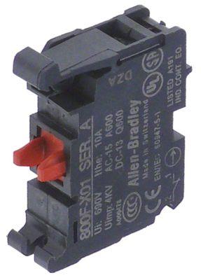 μπλοκ διακόπτη ALLEN-BRADLEY  800F-X01  1NC  μέγ. 600V 10A